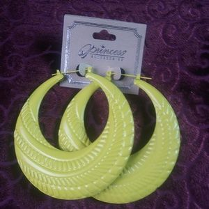 Women's Yellow Hoop Earrings New